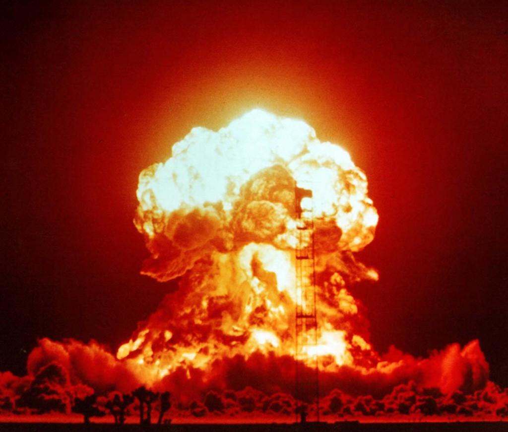 Amerikansk provsprängning av atombomb den 18 april 1953.