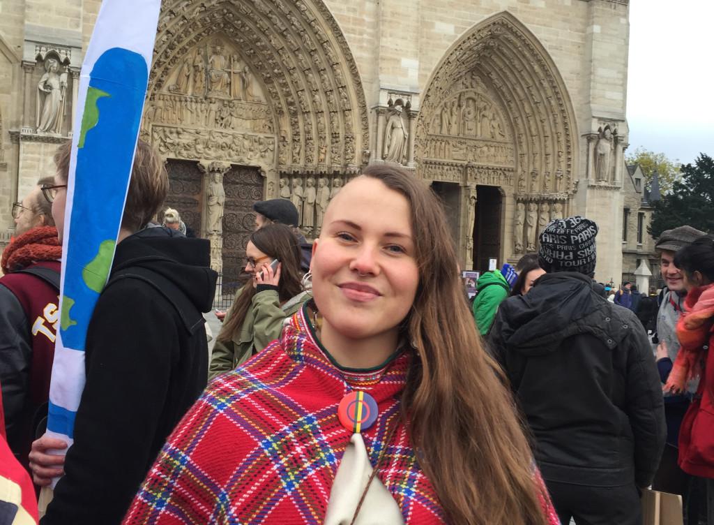 Sarraka Gaup tror på aktivistens möjligheter att förändra världen. Foto: Benita Eklund