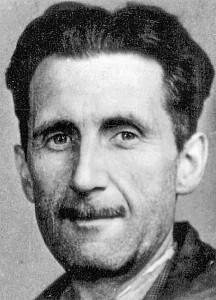 Fotot på George Orwells presslegitimation.