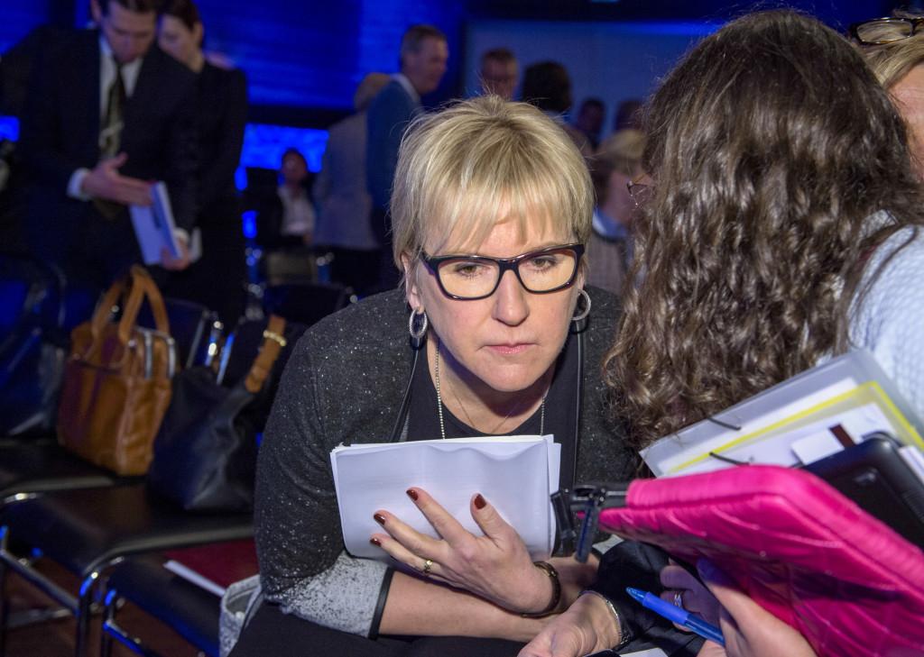 Margot Wallström på Folk och Försvar. Hon vill ha värnplikten tillbaka – i annan form. Foto: Henrik Montgomery/TT