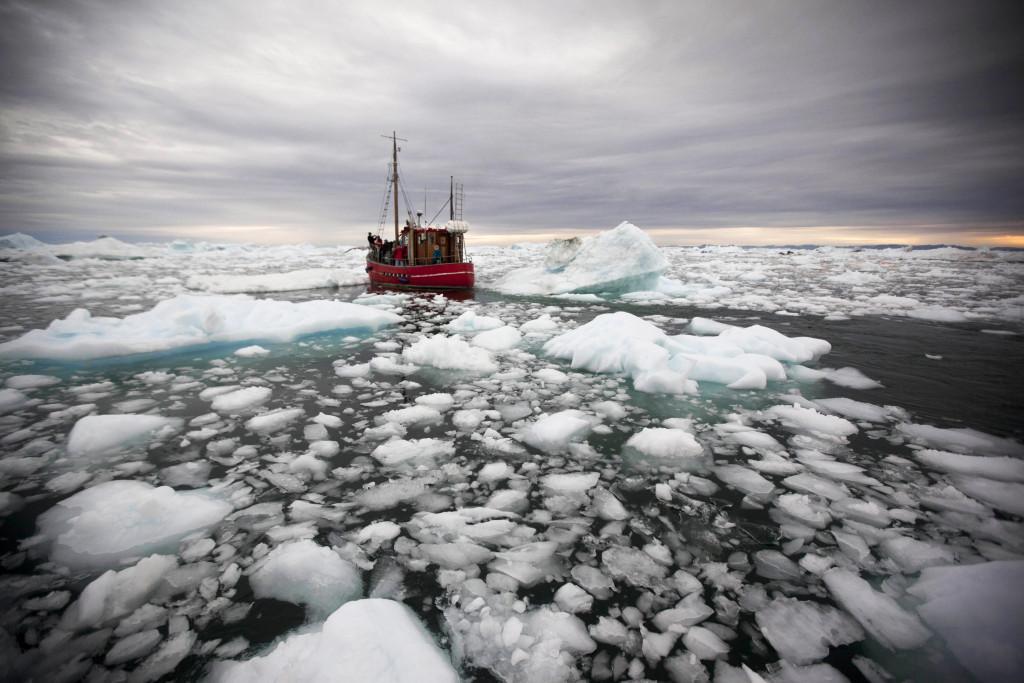 9 000 000 miljoner ton is har smält bort på Grönland de senaste 110 åren. Foto: John McConnico/TT