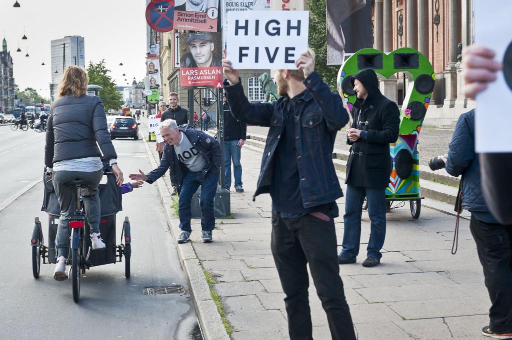 Uffe Elbæk och Alternativet i valrörelsen förra året. Foto: Ole Hein Pedersen.