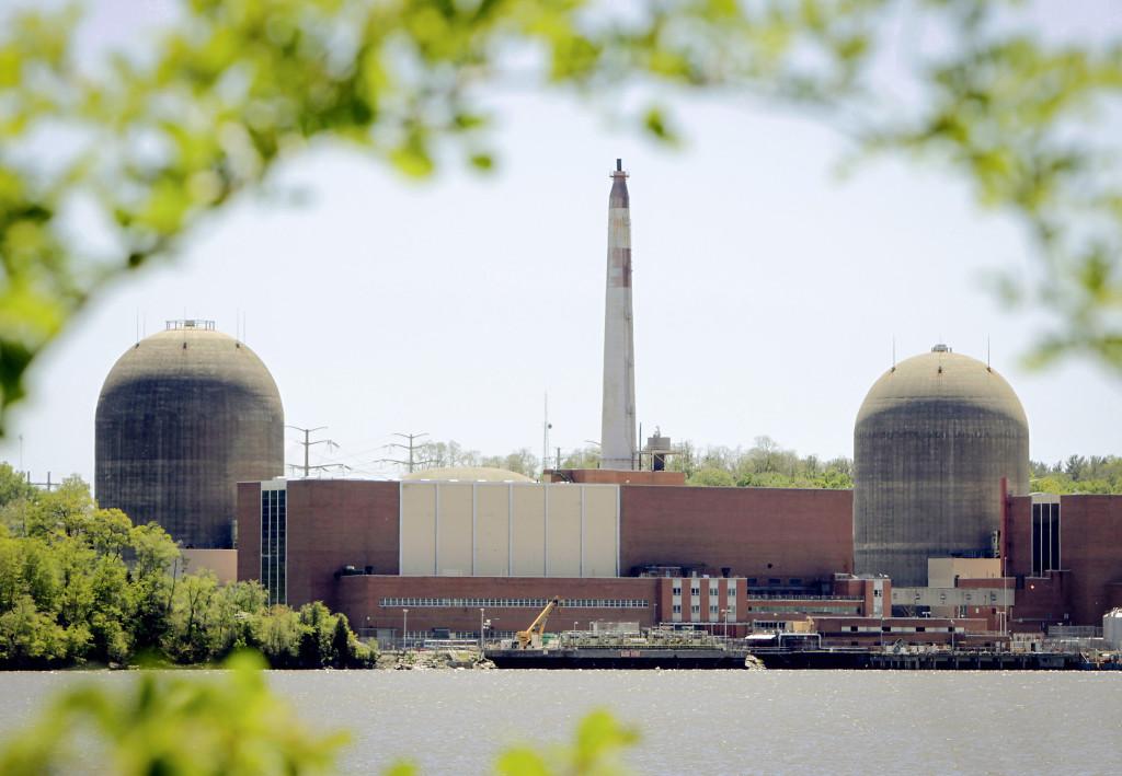 Vid Hudson river, 4 mil från New York, ligger ett av världens mest ifrågasatta kärnkraftverk. Nyligen upptäcktes en tritiumläcka. Seth Wenig/AP/TT.