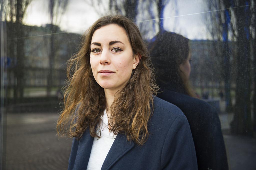 """""""Världen måste vara fossilfri 2050"""" säger Hanna Lidström. Foto: Jan-Åke Eriksson."""