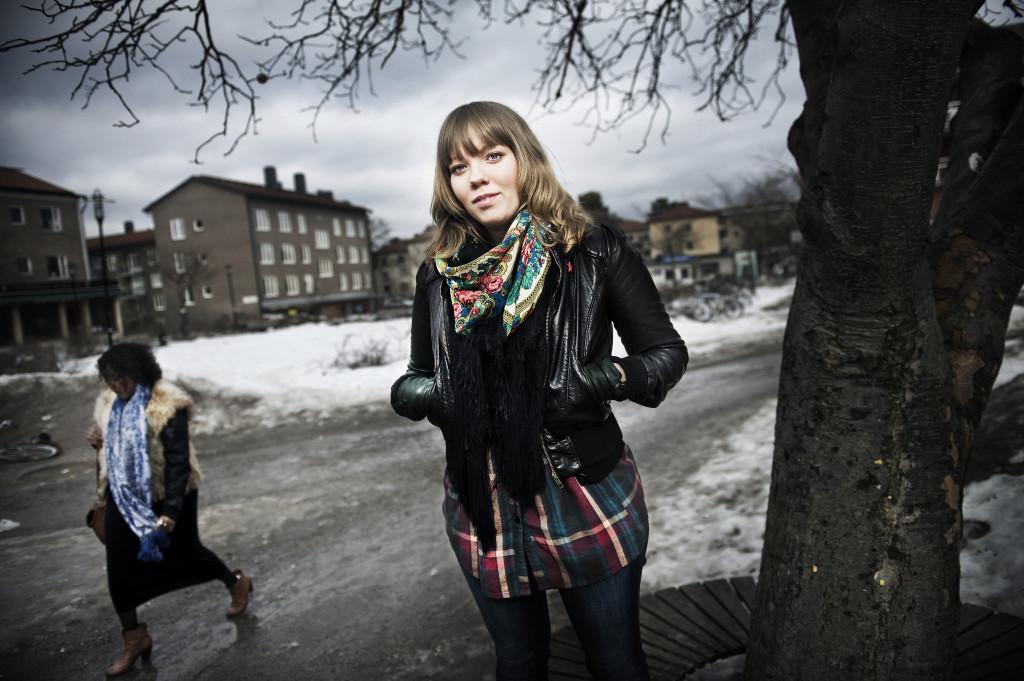 Jenny Wrangborg, poet. Foto: Karin Grip/SvD/TT.