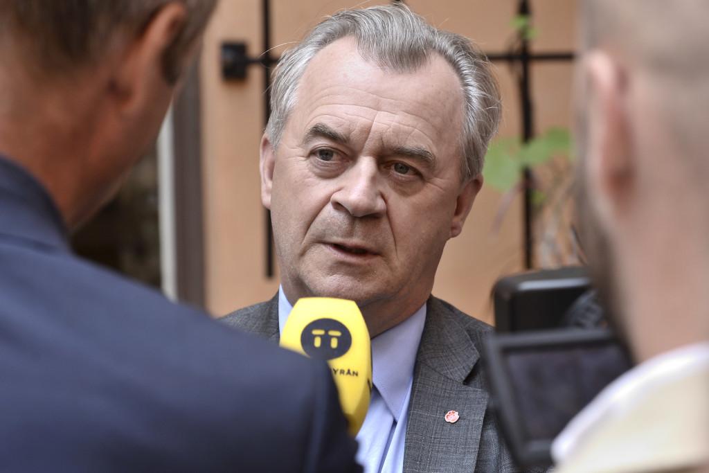 Landsbygdsminister Sven-Erik Bucht (S), som lett regeringssamarbetet när Stefan Löfven varit utomlands. Foto: Claudio Bresciani/TT.