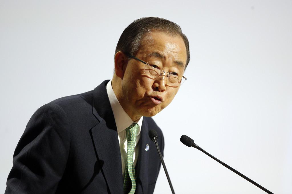 FNs generalsekreterare Ban Ki-Moon menar att många är engagerade i kampen mot kvinnlig könsstympning. Foto: AP Photo/Thibault Camus, Pool.