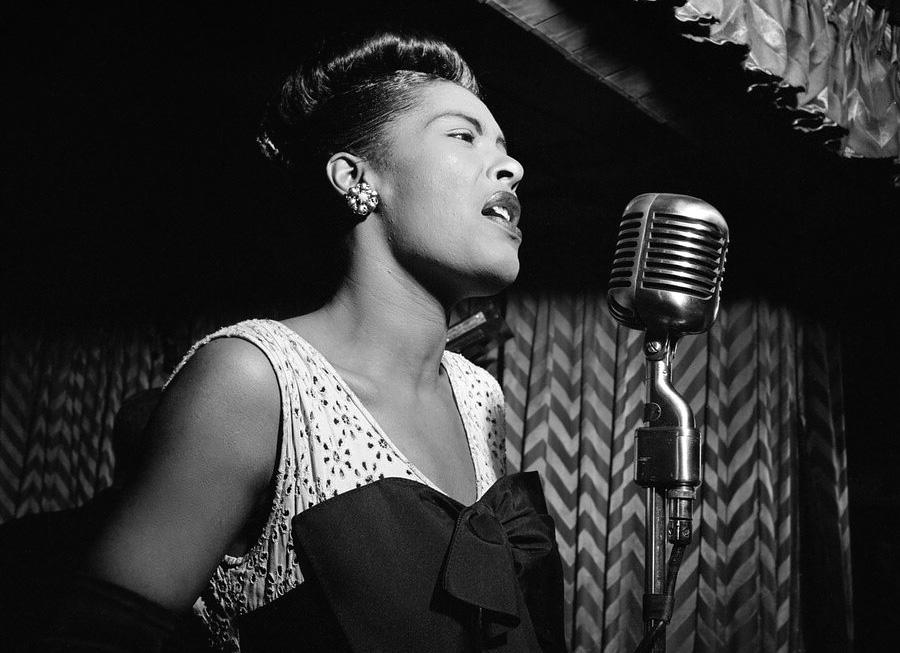 Jazzklubben Downbeat i New York 1947. Foto: William P Gottlieb.