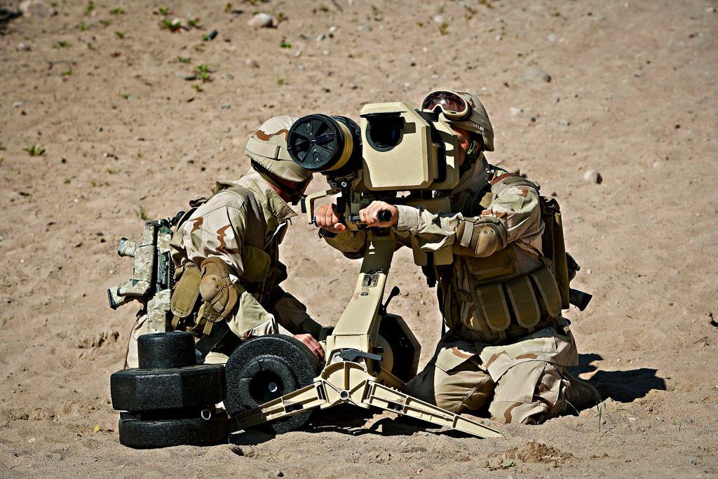 Förra året stod det klart att Saab Dynamics skulle sälja pansarvärnsvapnet Bill 2 till Saudiarabien. Foto: Saab Dynamics /Handout /TT.