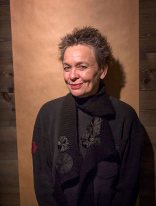 """Performanceartisten, konstnären och kompositören Laurie Anderson besökte i februari Göteborg Film Festival med filmen """"Heart of a dog"""". Foto: Thomas Johansson / TT."""