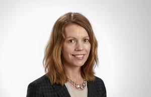 Anna Porelius är kommunikationschef vid SKB. Foto: Lasse Modin.