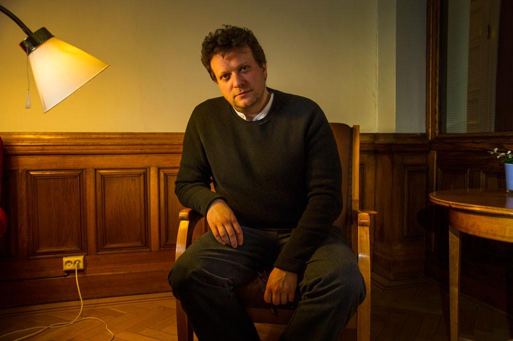 """""""Rysk propaganda är bra för oss. De är för svaga för att vara verkliga alternativ och belyser i stället det vi misslyckats med. Under kalla kriget sa de att USA var rasister – så USA lyfte fram medborgarrättsrörelsen"""", säger Peter Pomerantsev. Foto: Jan-Åke Eriksson."""