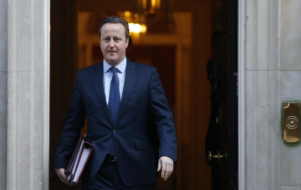 Storbritanniens premiärminister David Cameron. Foto: AP Photo/Alastair Grant/TT.